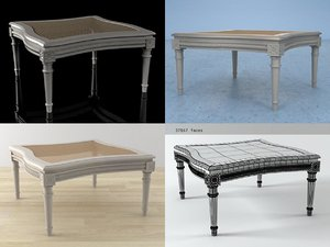 french 19th c table 3D