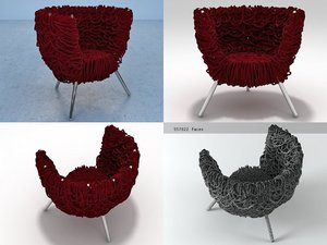 3D model vermelha edra
