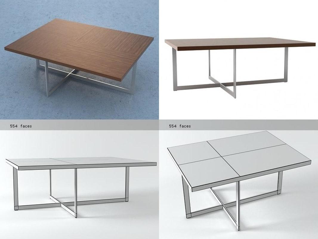domino console tables 3D model