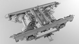 3D railway truck