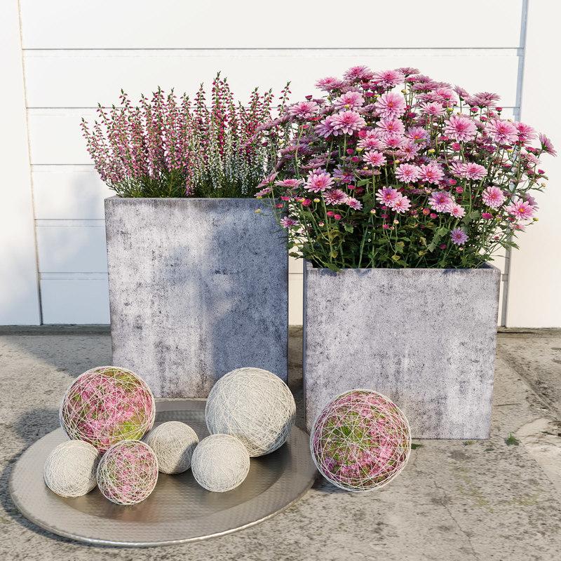 flowers decor model