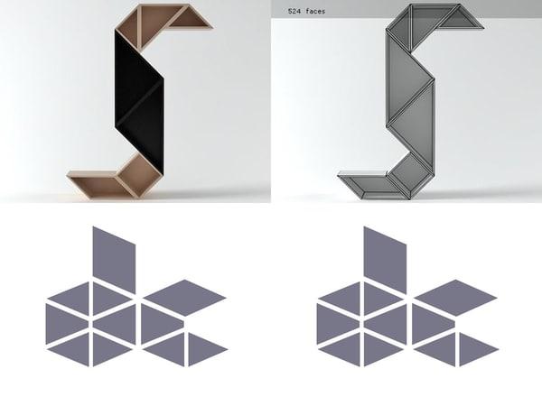 3D tangram 13 model