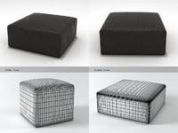 3D zanzibar poufs model
