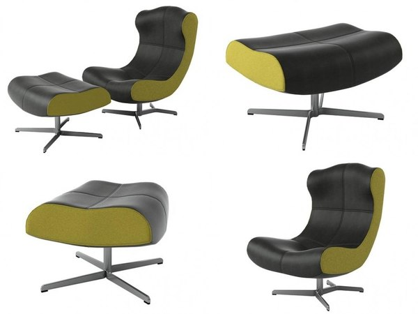 alster armchair footstool model
