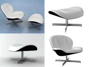 myo chair footstool 3D model