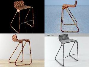 flo stool 3D model