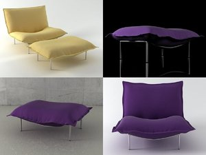 3D calin fireside chairs stools