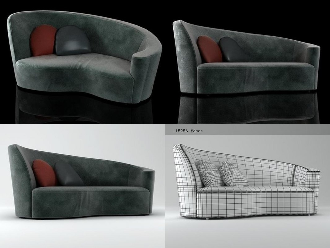 nautilus sofa nau ddx 3D model