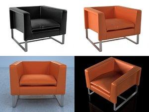 3D club armchair model