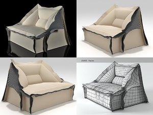 3D model volant armchair longuette 285