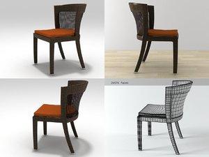 3D bonneville chair model