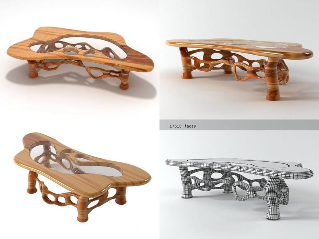 california craftsman table 3D