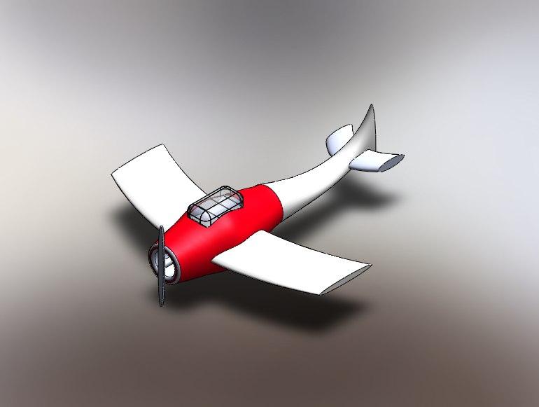 3D aircraft model
