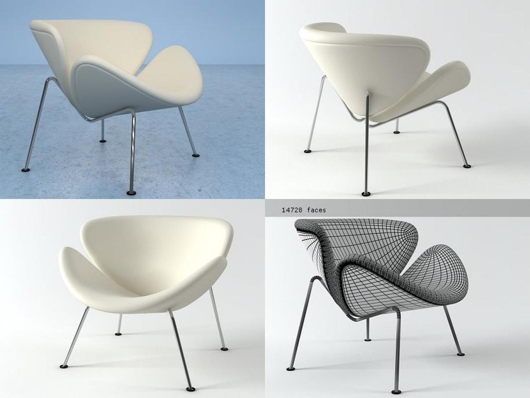 orange slice chair 3D model