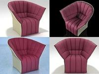 moël armchair 3D model