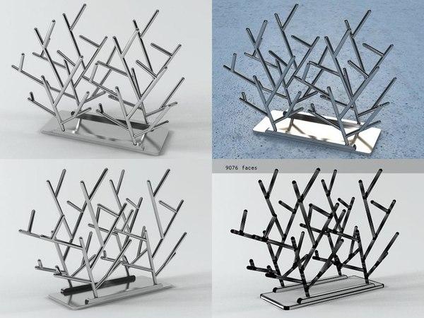 clara magazine rack 3D model