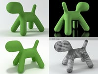 puppy medium chair 3D model
