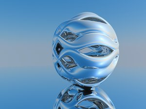 3D abstract ball scene surrealism