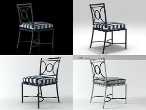 3D barcelona dining chair
