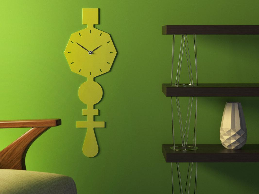codice clock lime green 3D model