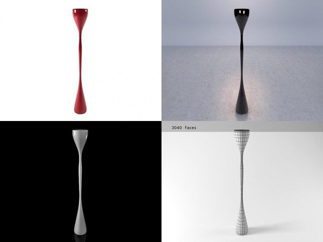 3D jazz floor lamp
