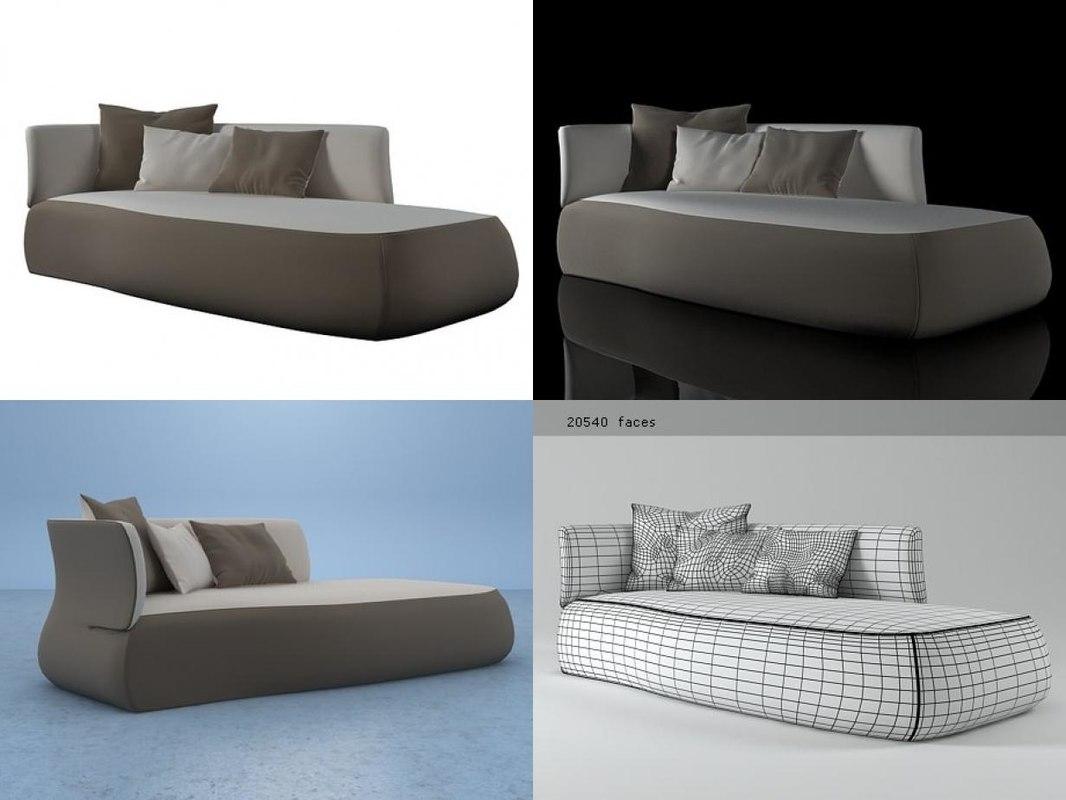 fat sofa fs230ld 3D