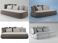 3D fat sofa fs230td