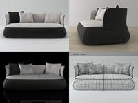 3D fat sofa fs210