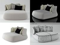 3D model fat sofa fs150