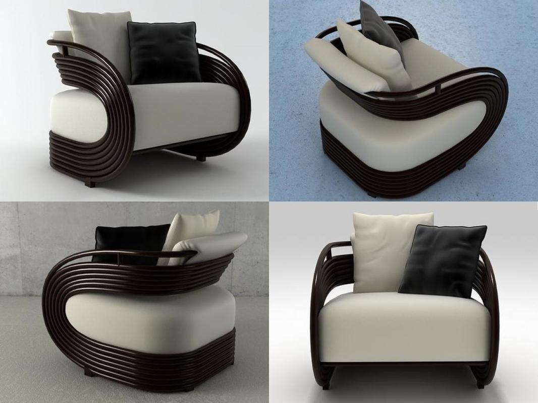 3D nastro armchair model
