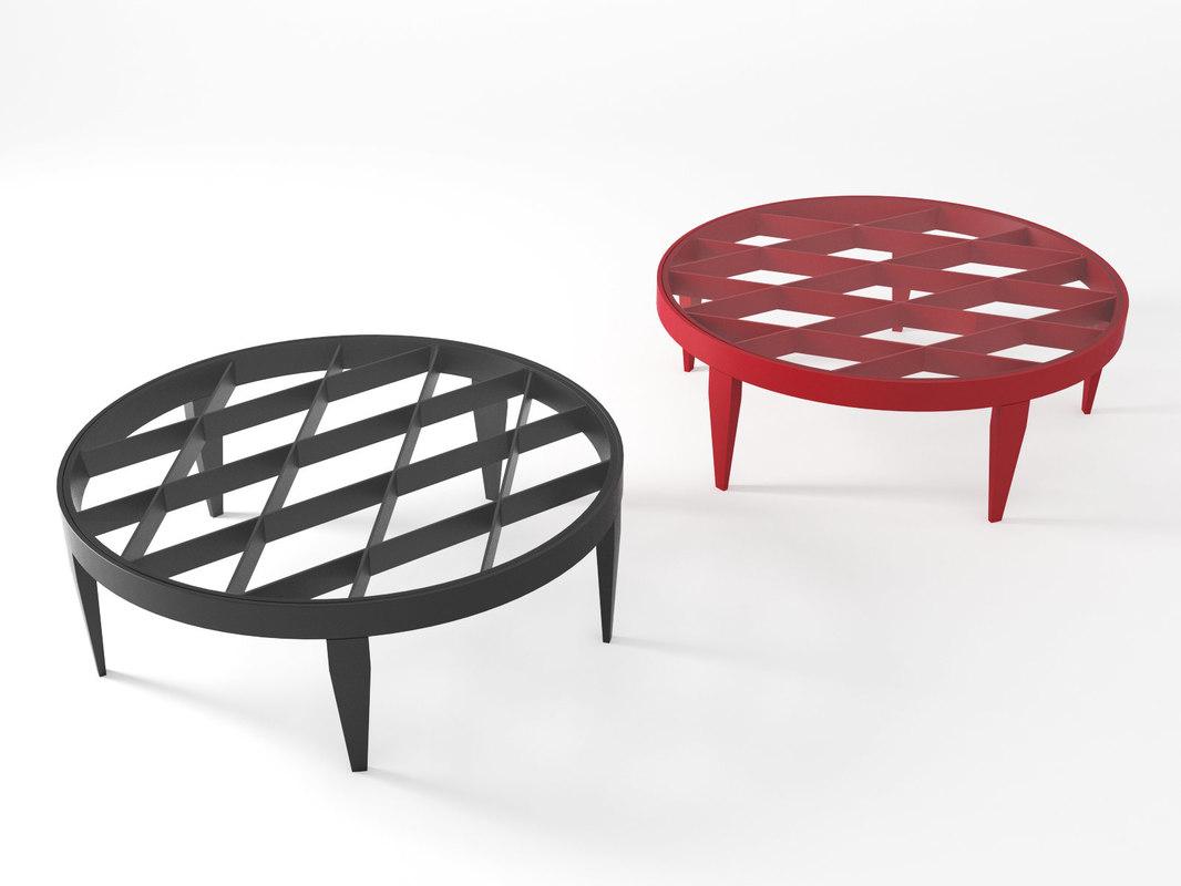 rosalinda table l 3D model