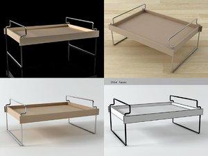3D bonjour breakfast tray model
