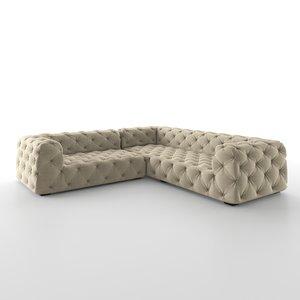 3D model soho tufted upholstered