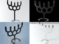 3D model bold series candle holder