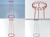 crown coat hanger 3D