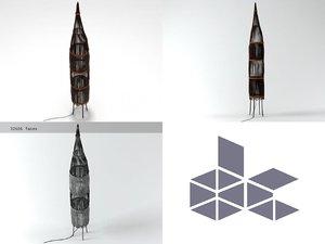 rattan floor lamp n model