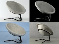 3D model french willow seat