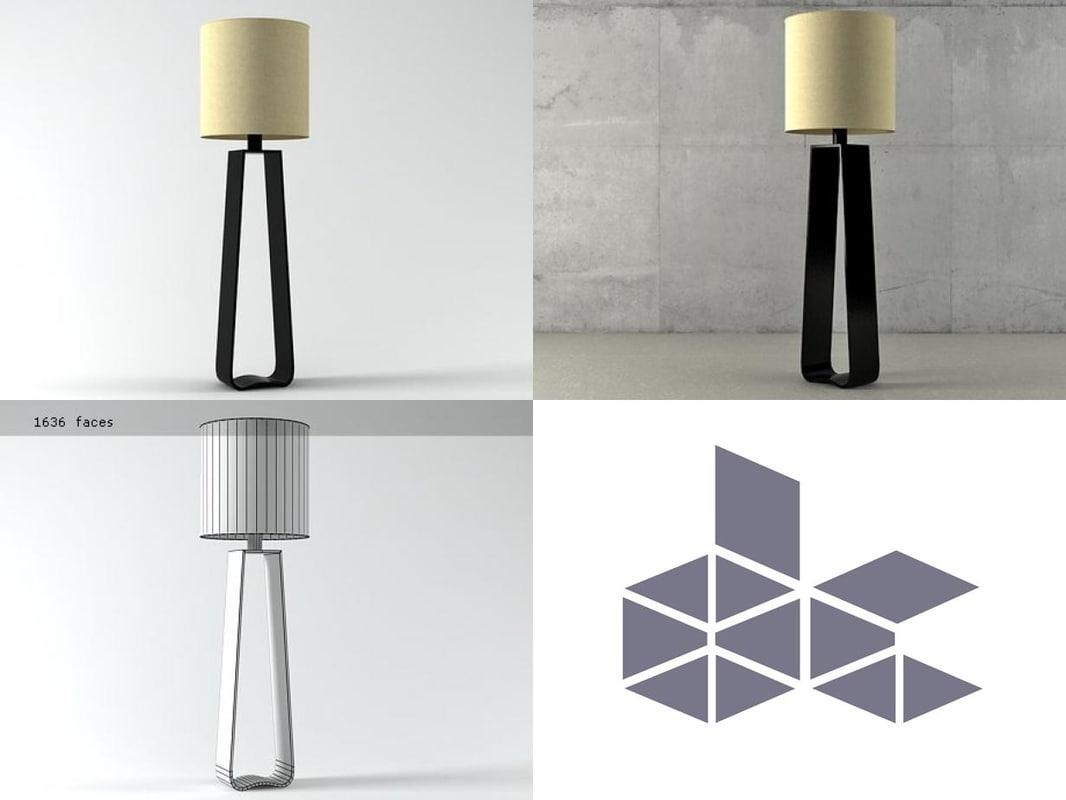 bocca floor lamp 3D model