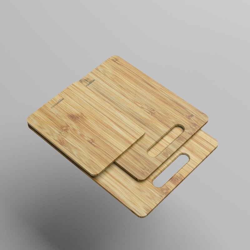 3D amazonbasics cutting board model