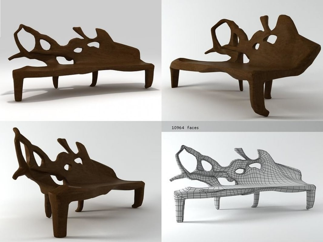3D model bench etno n