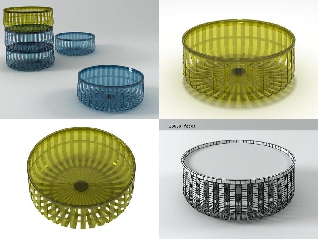 3D panier kartell