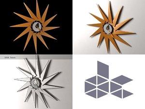 turbine clock 3D