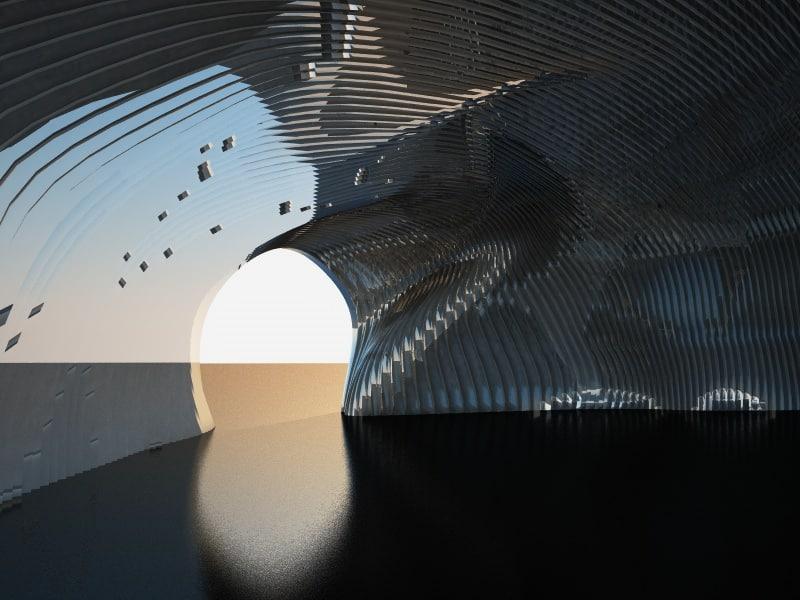 parametric gate scene 3D model