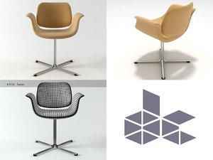 ej 205 flamingo chair 3D