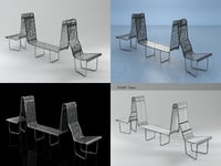 swiss benches - philosopher 3D model