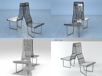 3D swiss benches - couple