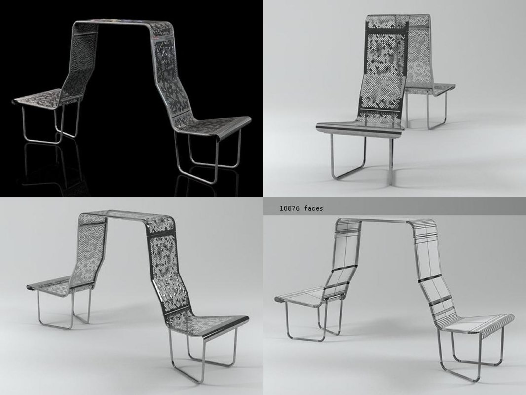 swiss benches - banker 3D model