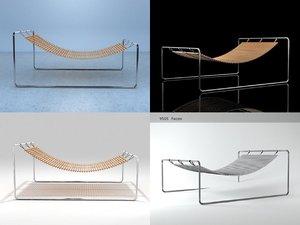 3D hanging sun lounger model