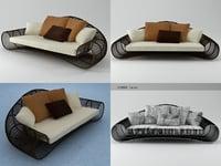 3D croissant sofa