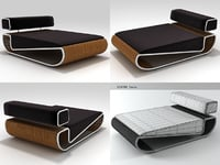 tambao daybed 3D model